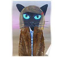 Anderson Tenenbaum black cat  Poster
