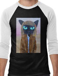 Anderson Tenenbaum black cat  Men's Baseball ¾ T-Shirt