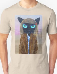 Anderson Tenenbaum black cat  T-Shirt