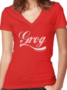Grog - Mêlée Island's Finest (Inspired by Monkey Island) Women's Fitted V-Neck T-Shirt
