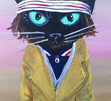 Anderson Tenebaum black cat by MuertoCupcake