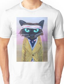 Anderson Tenebaum black cat Unisex T-Shirt