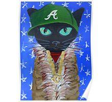 OutKast rapper hip hop Atlanta black cat Poster