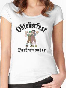 """Oktoberfest """"Farfromsober"""" T-Shirt Women's Fitted Scoop T-Shirt"""