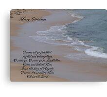 a carol for Christmas... Canvas Print