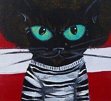 OutKast Atlanta black cat hip hop by MuertoCupcake