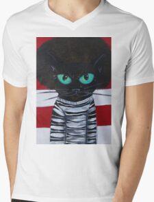 OutKast Atlanta black cat hip hop Mens V-Neck T-Shirt