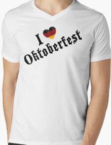 I Love Oktoberfest Mens V-Neck T-Shirt