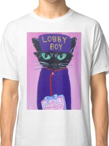 Anderson Lobby Boy black cat Pastry hotel Budapest Classic T-Shirt
