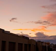 Red and Yellow sky by bsn-photography