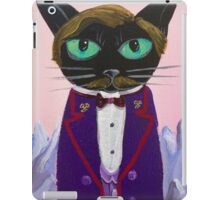 Anderson black cat Lobby Boy Budapest hotel gustave iPad Case/Skin