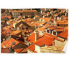 Terracotta Dubrovnik Poster