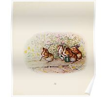 Cecily Parsley's Nursery Rhymes Beatrix Potter 1922 0053 Guinnea Pigs We Have a Little Garden Poster