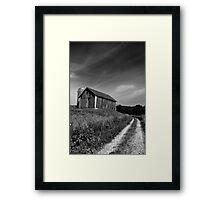 Barn in Black & White Framed Print