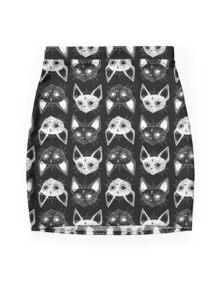 Kittens  Mini Skirt