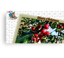 """"""" Holly Berries"""" Canvas Print"""