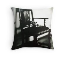 In the Dark Corner Throw Pillow