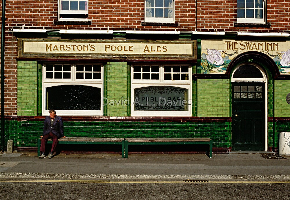 Waiting for the pub to open, England, 1980's by David A. L. Davies
