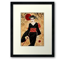 iska the snake charmer Framed Print