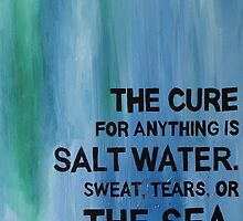 Isak Dinesen Salt Water Quote Painting by naloi