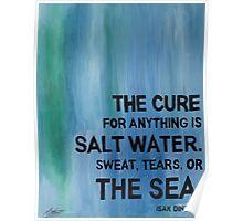 Isak Dinesen Salt Water Quote Painting Poster