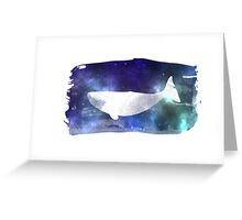 Star Whale Greeting Card