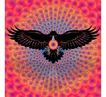Psychedelic Raven Brings Light Photographic Print
