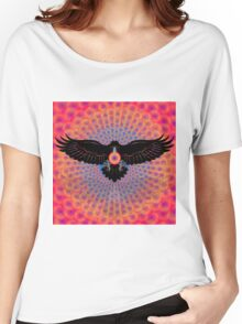 Psychedelic Raven Brings Light Women's Relaxed Fit T-Shirt