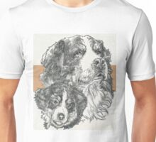 Bernese Mountain Dog, Father & Son Unisex T-Shirt