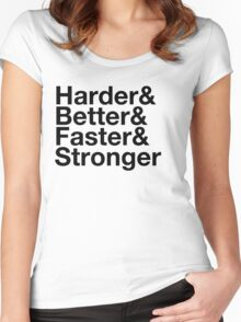 harder&better&faster&stronger Women's Fitted Scoop T-Shirt