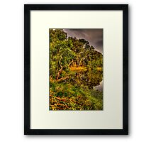 Reflecting Time - Wonga Wetlands, Albury , NSW Australia - The HDR Experience Framed Print
