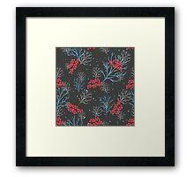 Rowan berry dark winter design Framed Print
