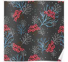 Rowan berry dark winter design Poster