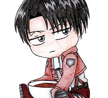 Chibi Levi with Tea by Persis Johnson