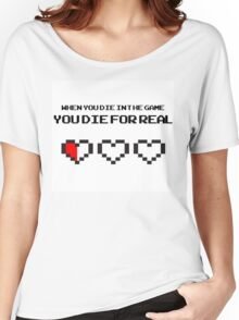 When You Die In The Game You Die For Real Women's Relaxed Fit T-Shirt