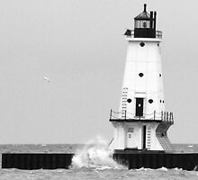 Breezy Day in Ludington, Michigan by BarbL