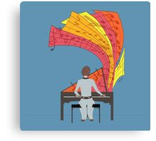 The joy of piano playing Canvas Print