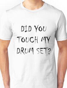Drum Set Black Unisex T-Shirt
