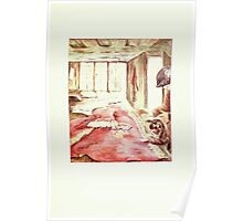 The Tailor of Gloucester Beatrix Potter 1903 0081 Cat and Tailor at Work Poster