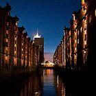 Hamburg Speicherstadt by night by Rob Hawkins