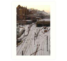 Edinburgh Waverley station Art Print