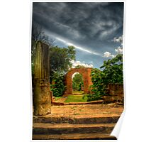 Overgrown capitol building ruins Poster