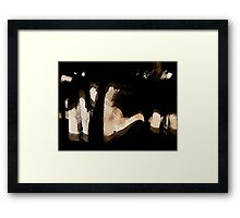 finding fuji on a clear day.. Framed Print
