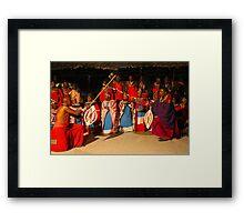 Masai ritual Framed Print