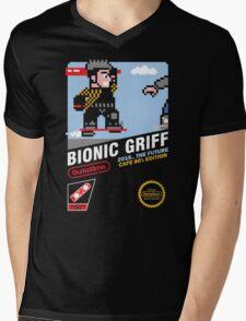 Bionic Griff Mens V-Neck T-Shirt