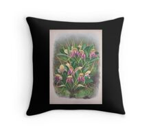 Iconagraphy of Orchids Iconographie des Orchidées Jean Jules Linden V4 1888 0163 Throw Pillow