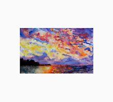 Lake Sunrise Watercolour Painting Unisex T-Shirt