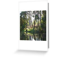 tranquil scene on the Preston River Greeting Card