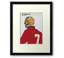 Magnificent seven - Eric Cantona Framed Print