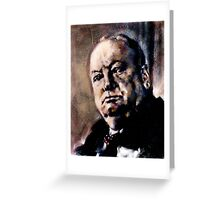 Portrait of Winston Churchill Greeting Card